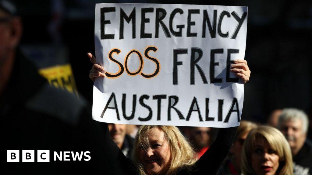 Australia Covid: Anti-lockdown protesters condemned