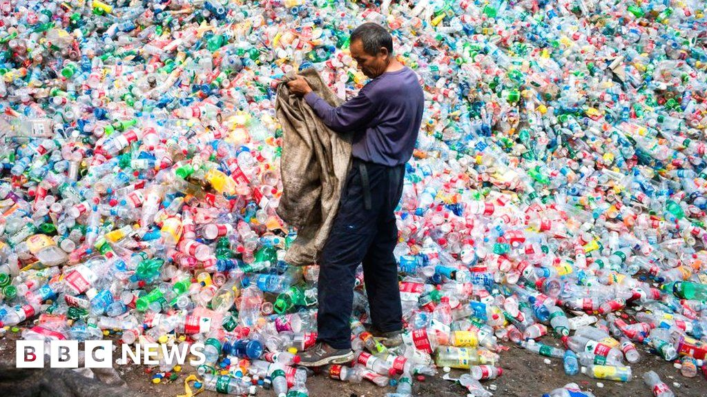 Where does recycling and rubbish from the UK go?