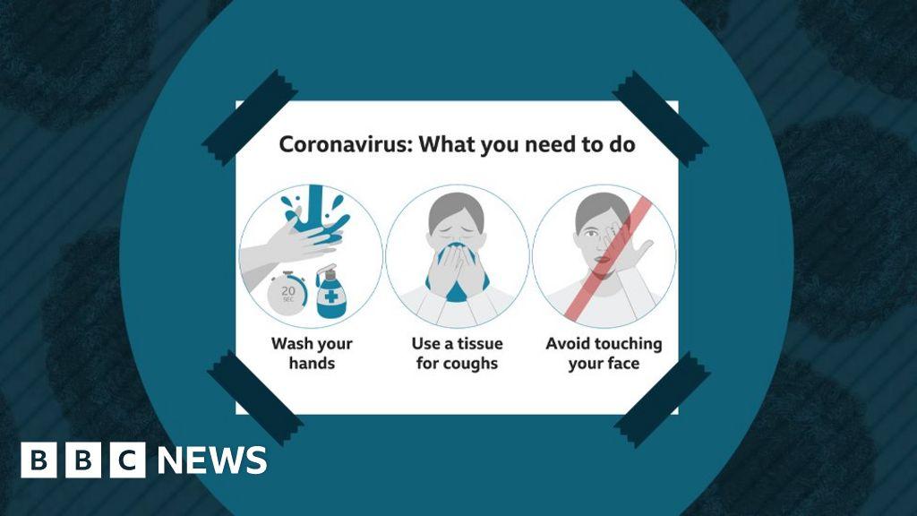 coronavirus information  four posters