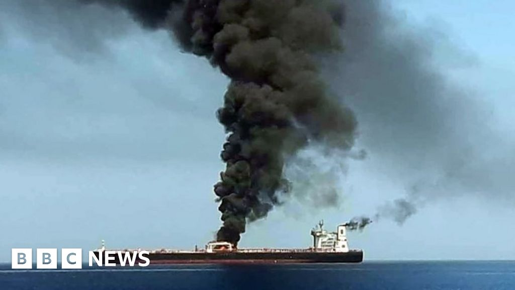 Crews rescued after Gulf tanker explosions