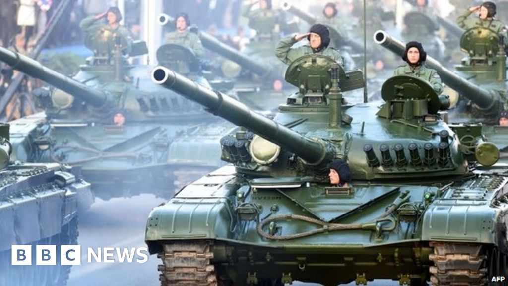 Croatia's parade was held to mark the 20th anniversary of the 1995  Operation Storm military offensive