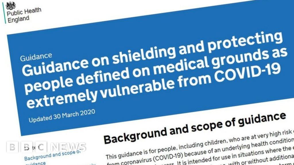Thousands missed off coronavirus 'high risk' list