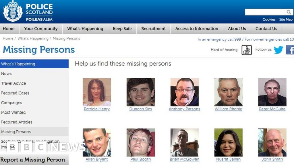police scotland  missing persons cases up by 1 000