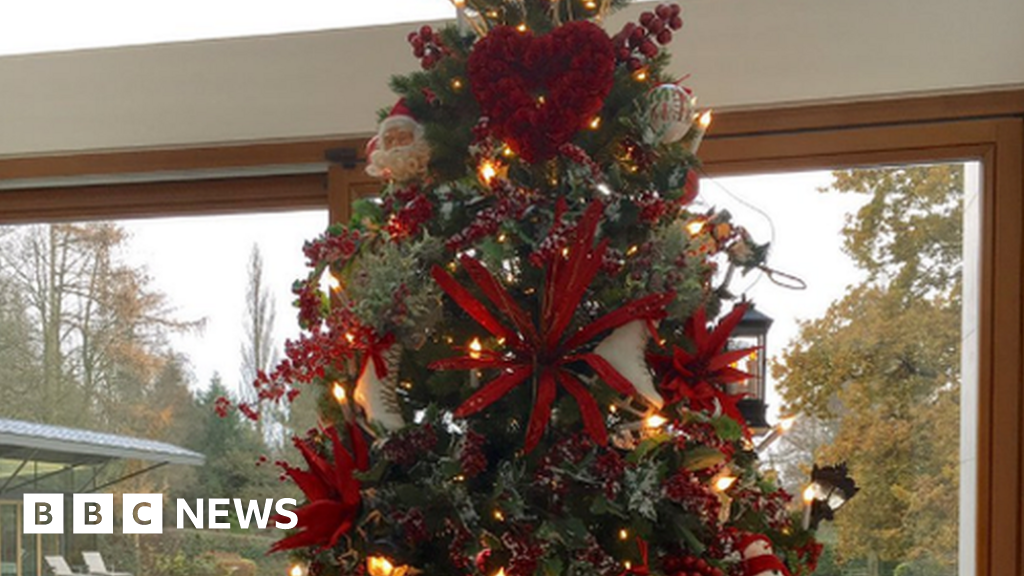 Everton Manager Changes Red Christmas Tree After Fans Complaints Bbc News