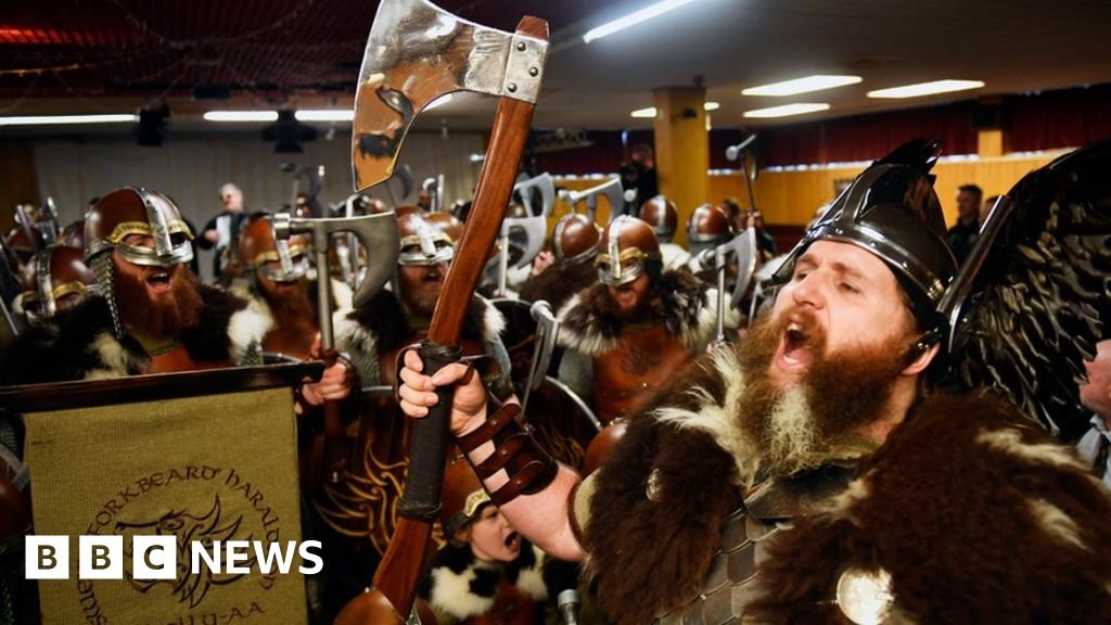Up Helly Aa: The songwriter who introduced Vikings to Shetland's fire festival thumbnail