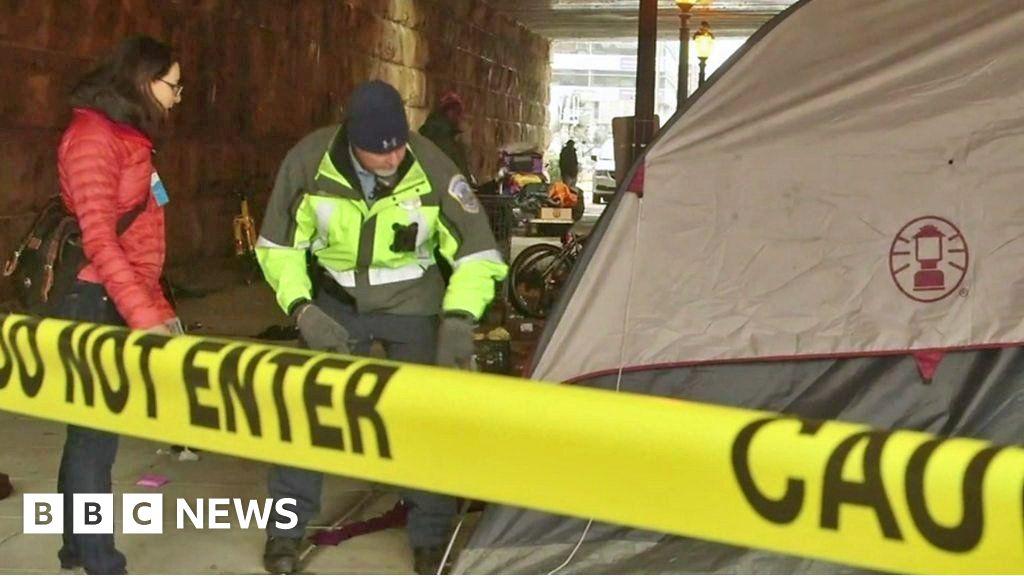 Homeless swept up in America