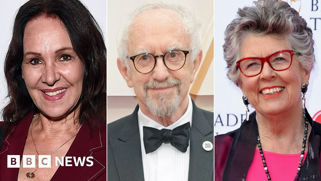 Arlene Phillips, Jonathan Pryce and Prue Leith on Queen's Birthday Honours list
