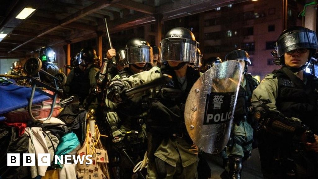 Hong Kong police 'pushed to the limit'