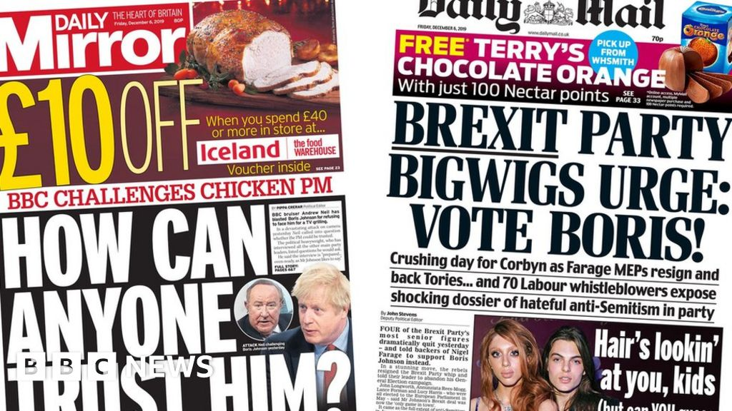 Newspaper headlines: Andrew Neil challenges PM to  oven-ready  interview