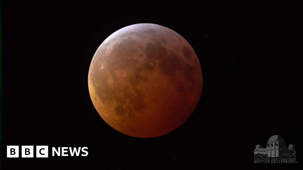 The 'super blood wolf moon' eclipse