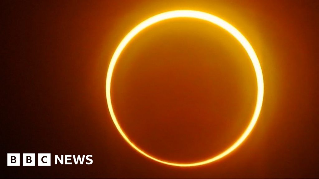 'Ring of fire' eclipse lights up the sky