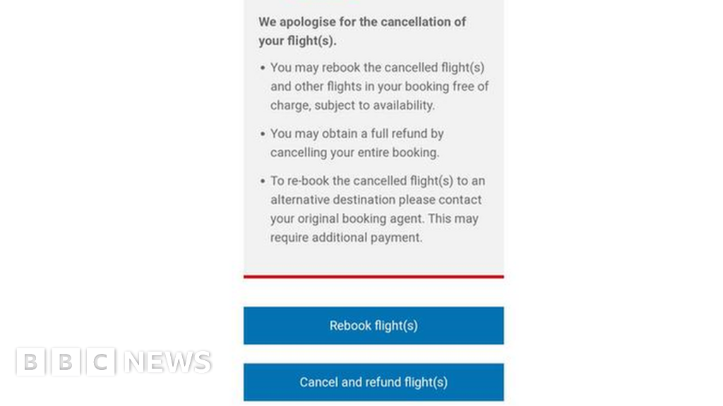 British Airways accused of snubbing refund request - BBC News