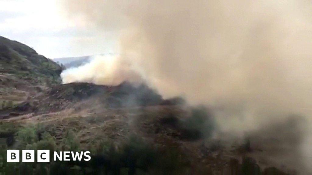 Fire in Glenfinnan