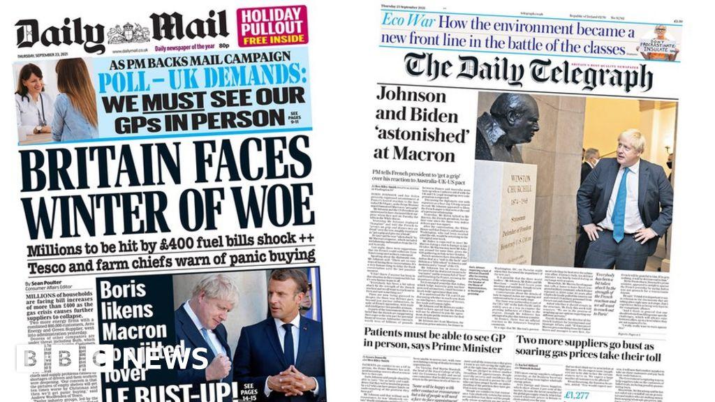 Newspaper headlines: 'Winter of woe' and France rift deepens