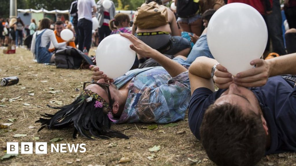 Laughing gas sales balloon on Dutch party scene - BBC News