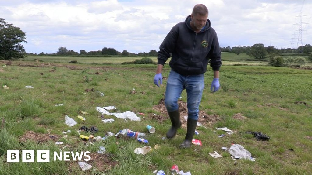 Farmer's anger over fly-tipping on his land