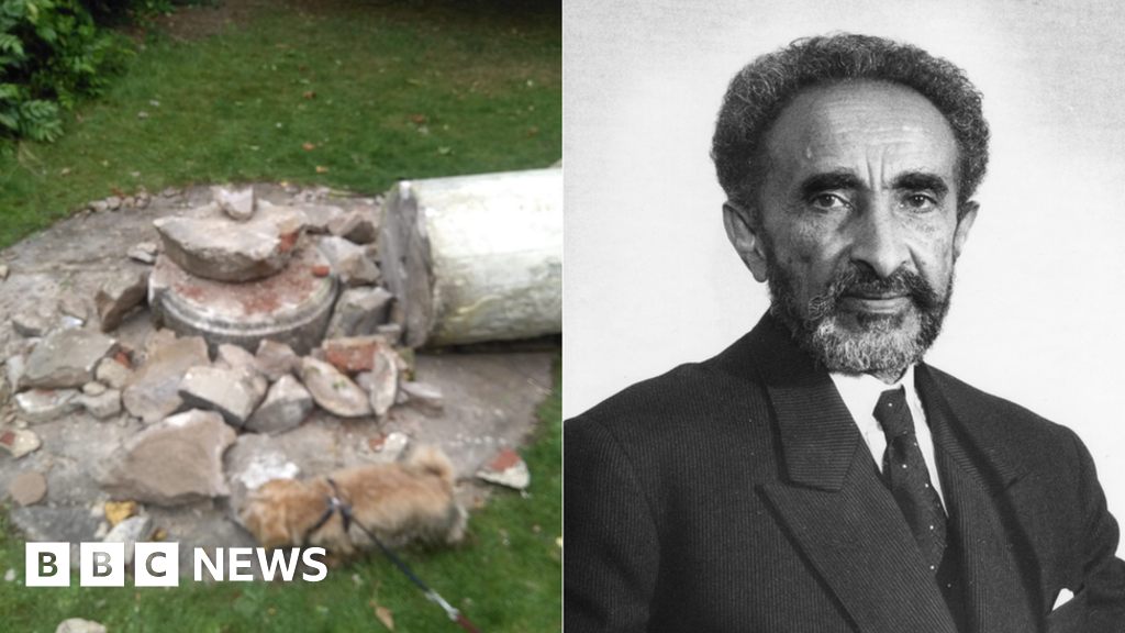 Haile Selassie statue destroyed in London park