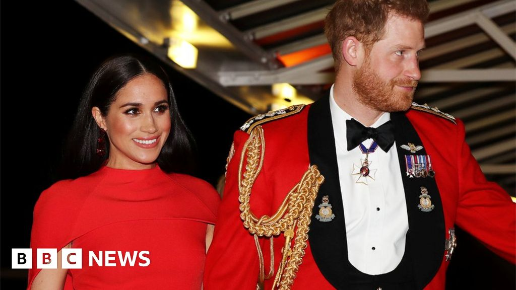 Harry and Meghan in the last public use as working royals