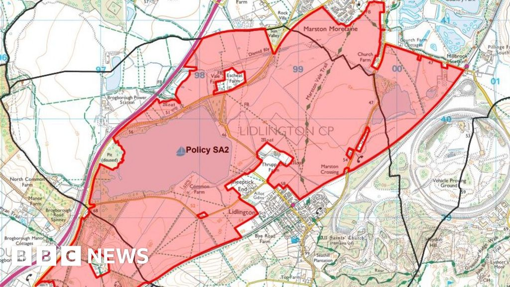 Central Bedfordshire Local Map Approved by Thousands - BBC News