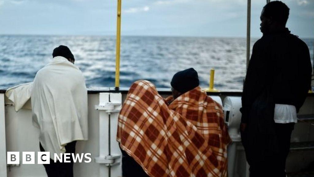 Merchant ship 'hijacked by migrants' off Libya
