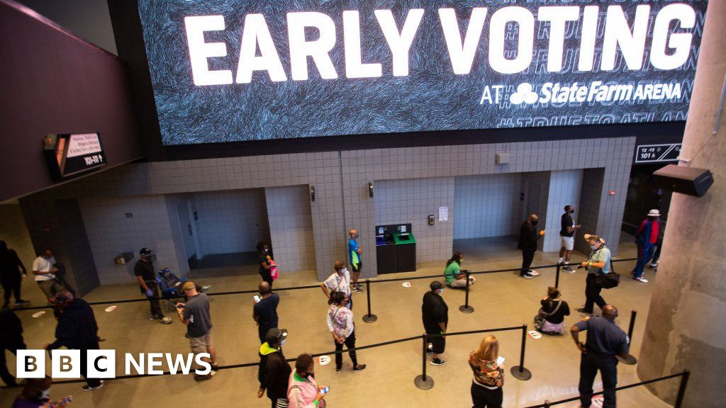 US election 2020: Early voting records smashed amid enthusiasm wave