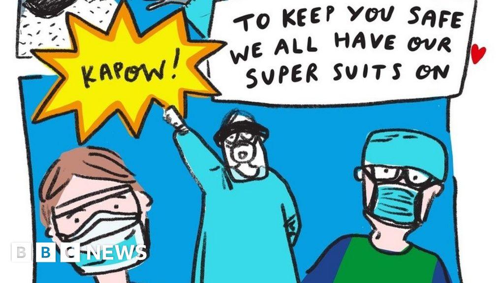 Coronavirus Berwick Illustrator S Kid Calming Cartoon Bbc News