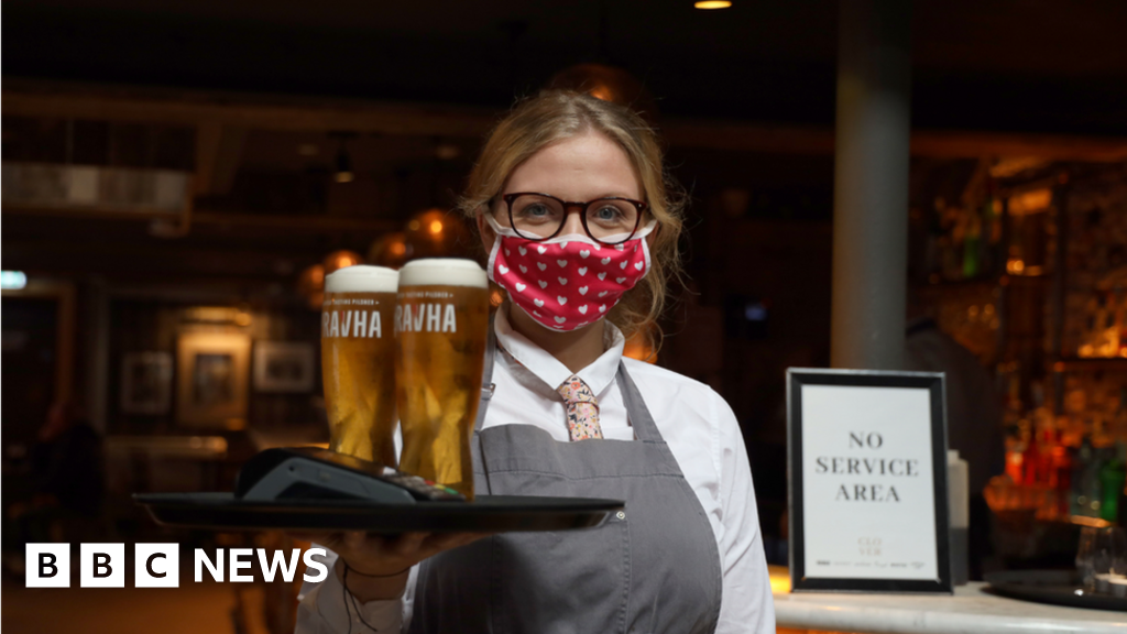 Coronavirus: Alcohol-only pubs reopen in Northern Ireland - BBC News