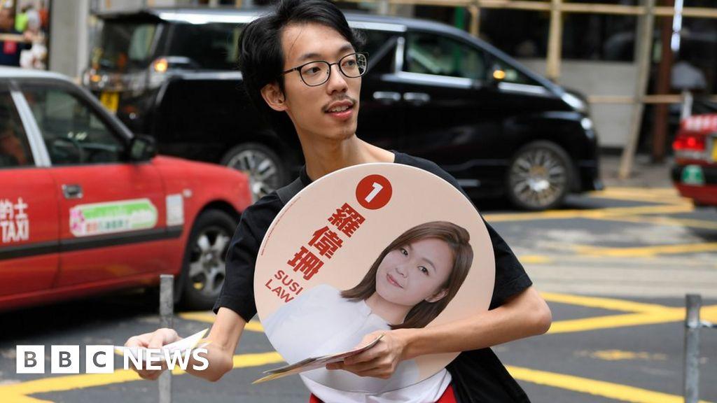 Hong Kong protesters hope poll will send message to China thumbnail