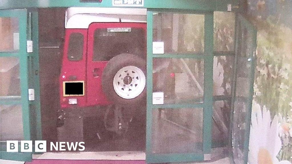 Ram-raiders target hospital cash machine