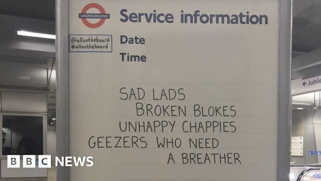 London Tube whiteboard messages 'make people less alone'