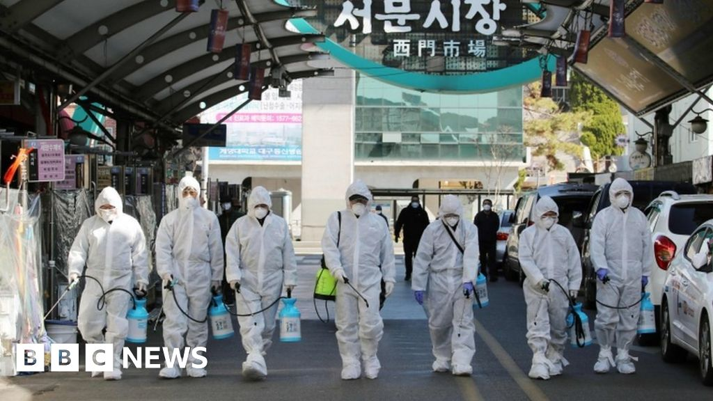 Coronavirus: South Korea declares highest alert as infections surge - BBC  News