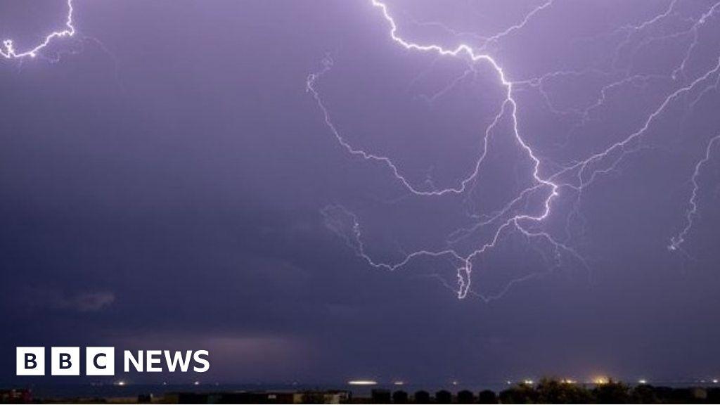 Lightning captured across UK
