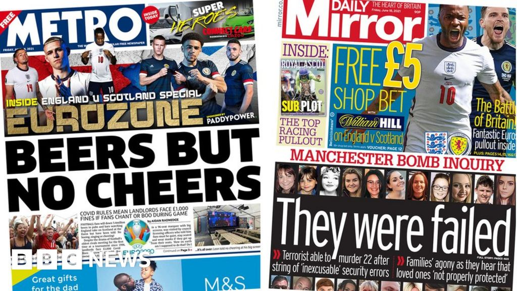 The Papers: England v Scotland build-up and arena bomb report
