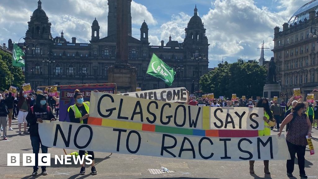"Anti-racism rally held despite the ""stay away  warning"