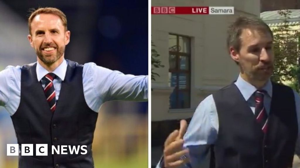 World Cup 2018: Tributes to Gareth Southgate... and his look-alike