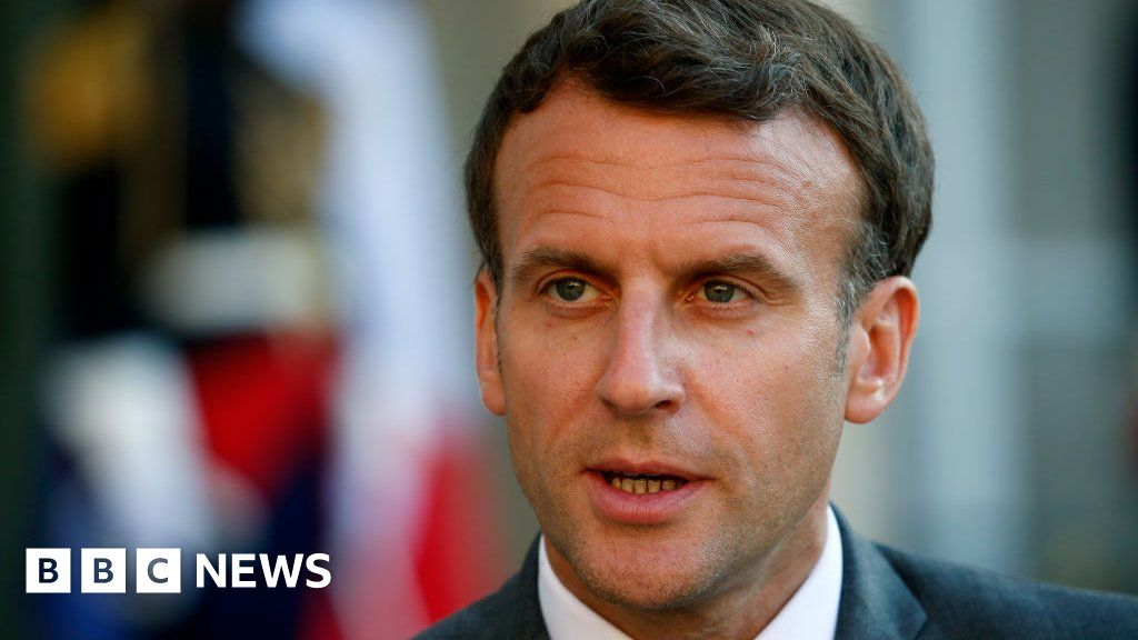 France President Emmanuel Macron slapped in the face