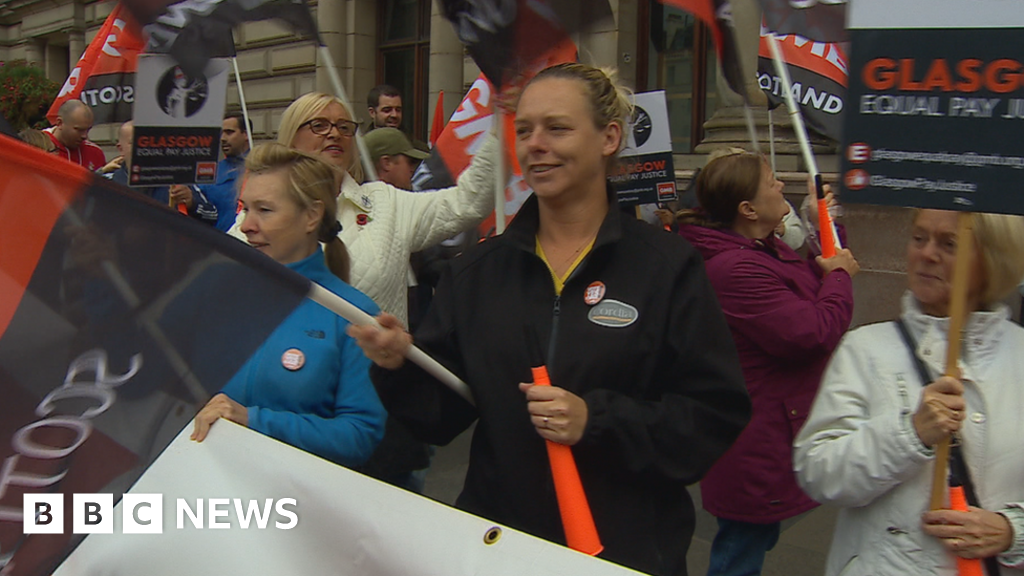 Why are women in Glasgow striking over equal pay?