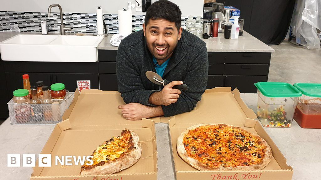 Can a BBC reporter make better pizza than a machine? - bbc