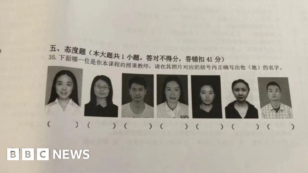 China exam tests students on teacher names
