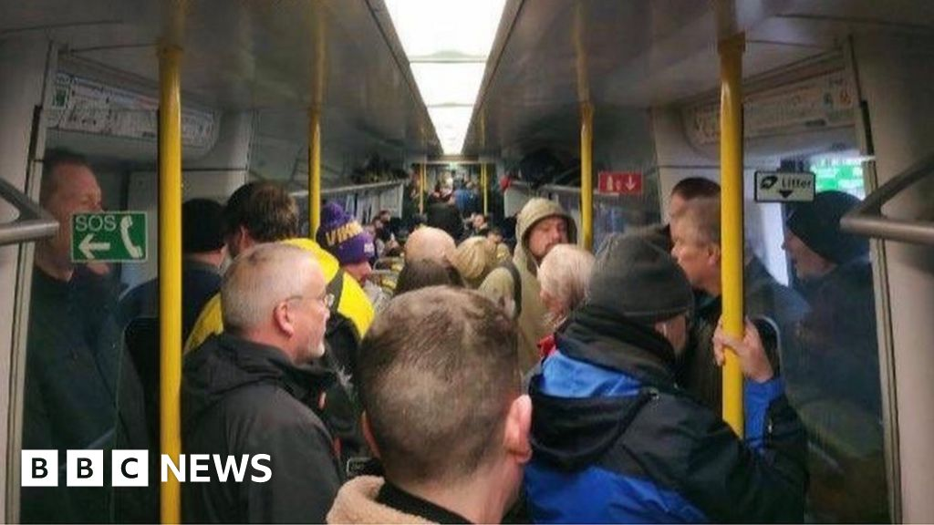 A morning train service in Glasgow