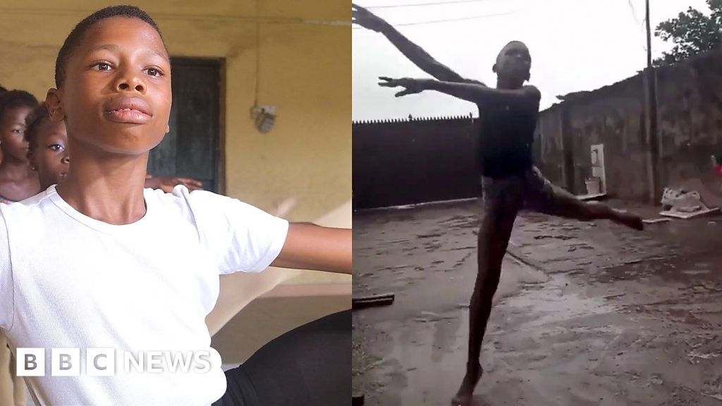 Barefoot ballet boy dancing in the rain goes viral