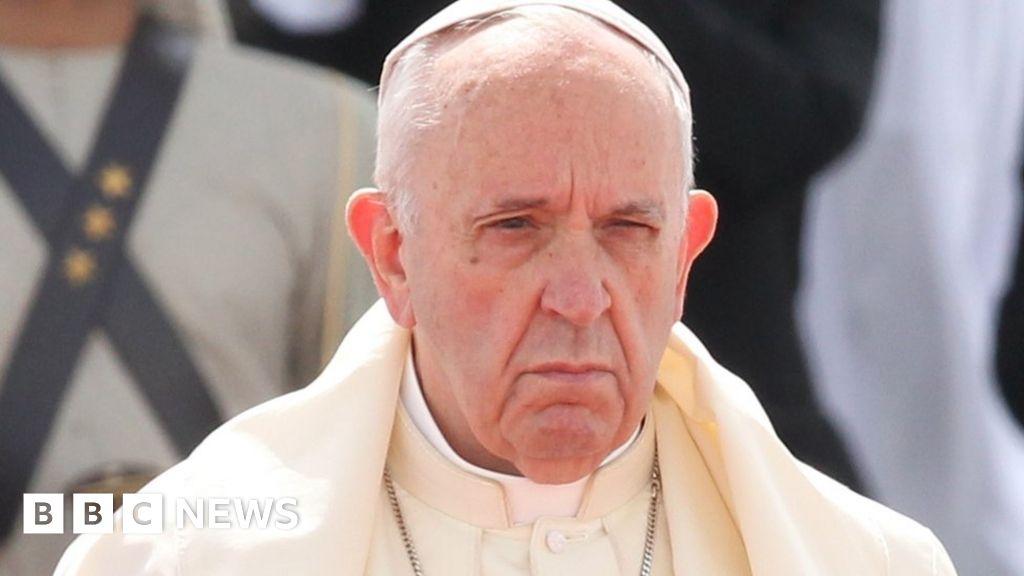 Pope says priests kept nuns as sex slaves