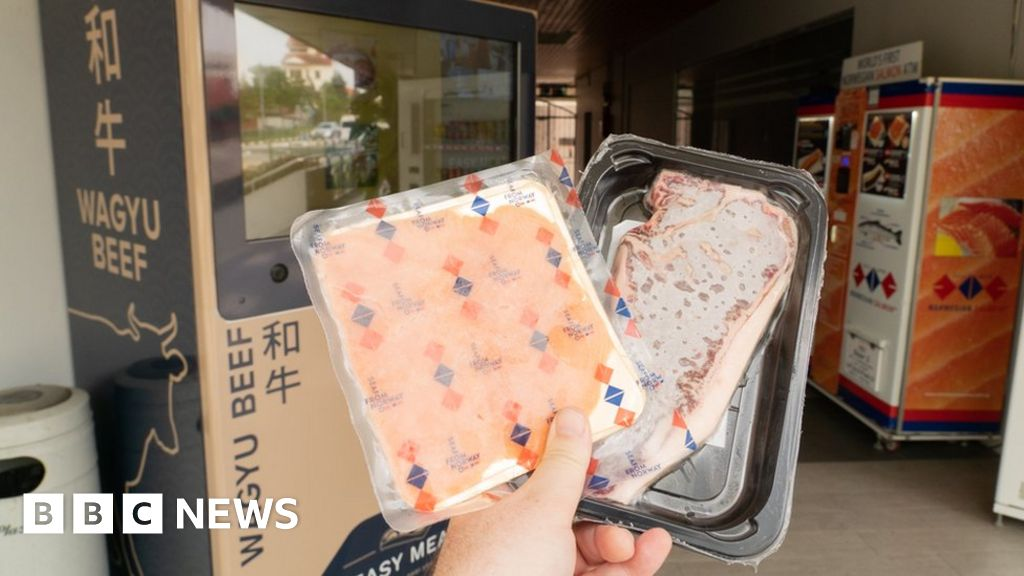 Singapore vending machines now dispense salmon, crab and even cacti