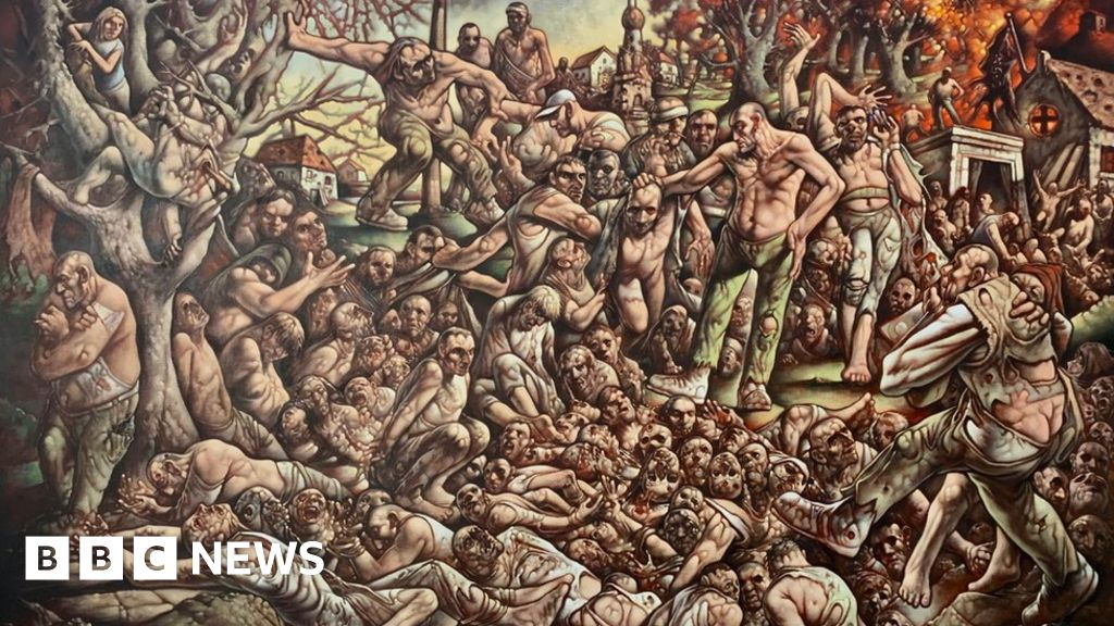 Peter Howson returns to  hell  of Bosnian war with new painting