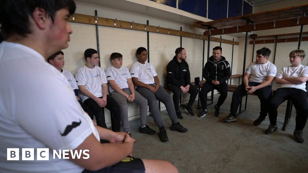 The suicide prevention message from the rugby scrum