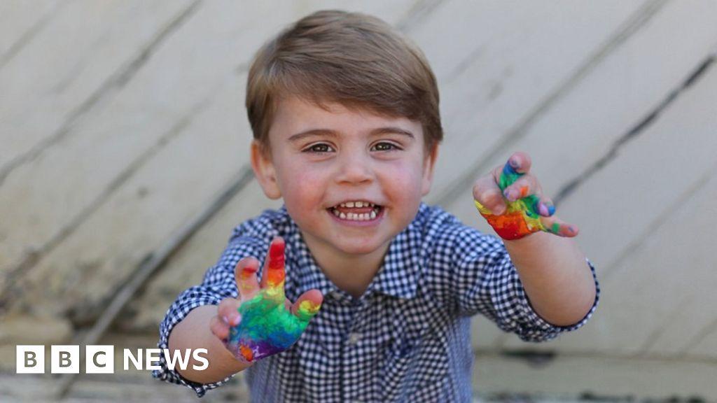 Coronavirus: Prince Louis  rainbow-tribute in second birthday pictures