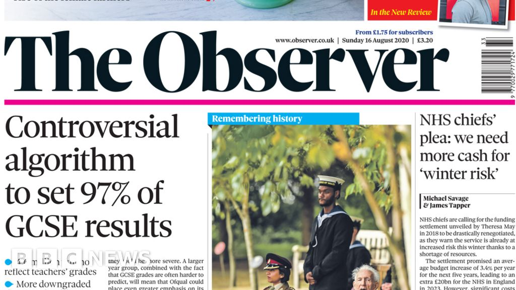 The Papers: Calls to 'sack' Williamson, and PHE to be 'axed'