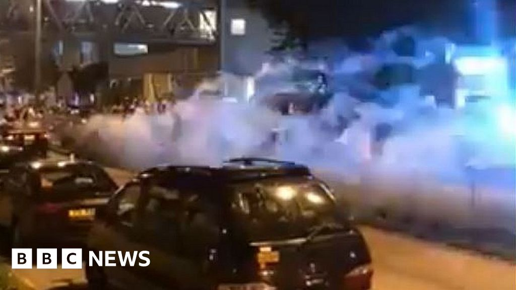 HK protesters hurt in drive-by fireworks attack