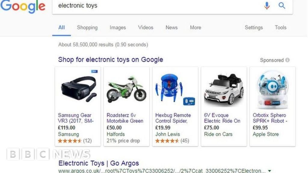 Google starts appeal against £2bn shopping fine