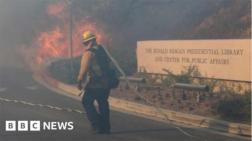 California fires: Reagan Presidential Library threatened